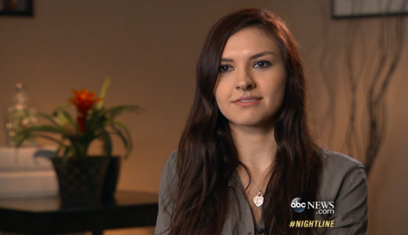 Chrissy Chambers in ABC News' documentary about her experience as victim of revenge porn.