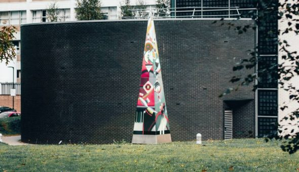 Photo of an art work in the campus of University of Warwick.