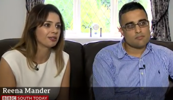 The Manders were interviewed by BBC South about their case.