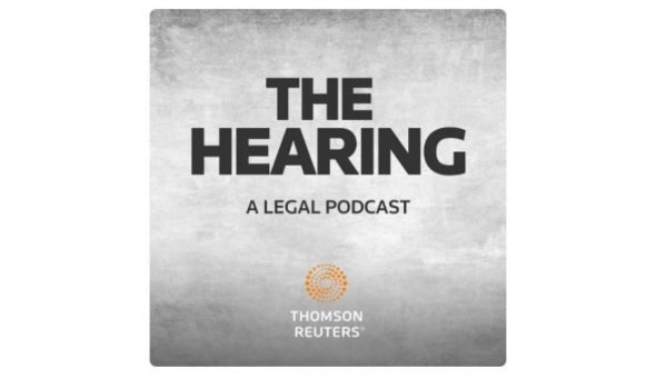 Image of the logo for the Hearing legal podcast.