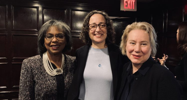 Dr Olivarius photographed with Anita Hill and Catherine Lhamon, fellow recipients of YaleWomen's Lifetime Achievement Award.