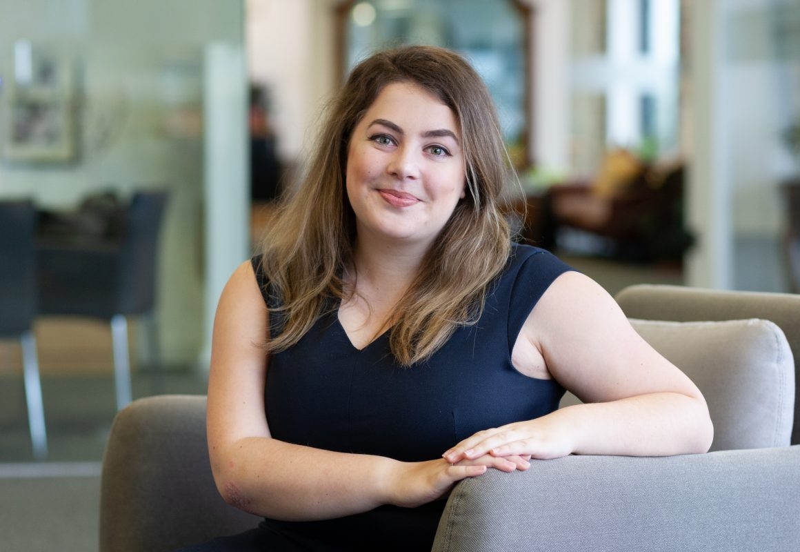 Photo of Shannon Moore, Trainee Solicitor at McAllister Olivarius.