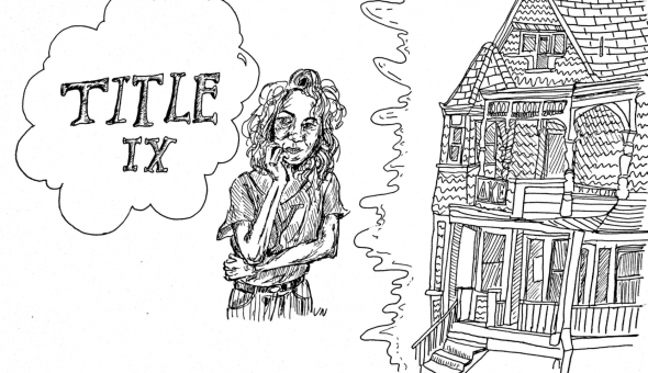Graphic representing Title IX and Sex Discrimination. From Lauren Hoffman's opinion article for Yale Daily News.