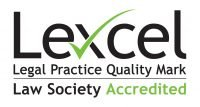 Logo of Lexcel accreditation.