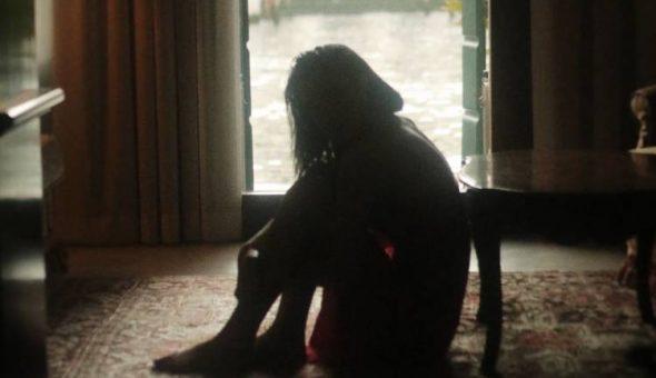 Photo of a very sad girl.