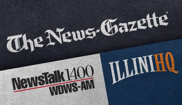 News Gazette promotional logo collage.