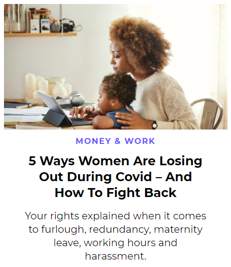 Article preview '5 ways women are losing out during Covid - and how to fight back'