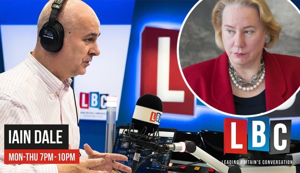 Photo of Ann and Iain Dale from LBC radio.