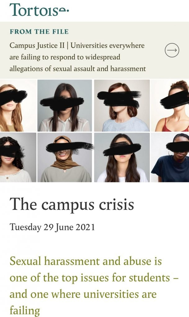 Preview of Tortoise article 'The campus crisis'.