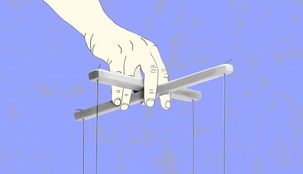 Woman's Hour episode graphic of puppeteer's hand.